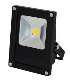 Naświetlacz LED 10W płaski czarny CW