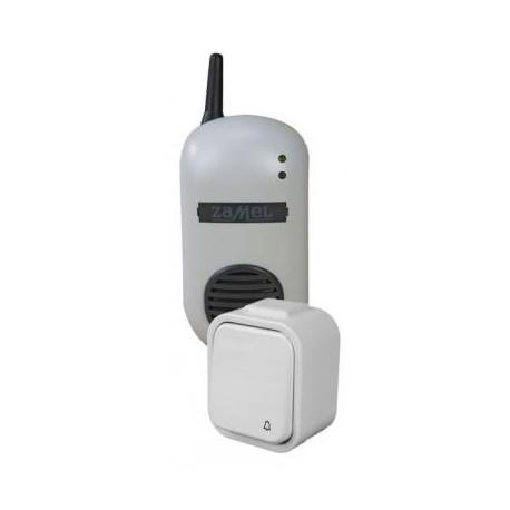 Dzwonek bezprzewodowy BULIK z przyciskiem hermetycznym  ZAMEL