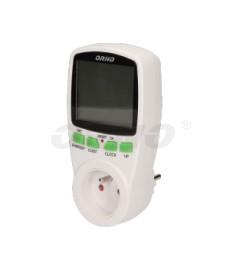 Dwutaryfowy watomierz, kalkulator energii OR-WAT-408 ORNO