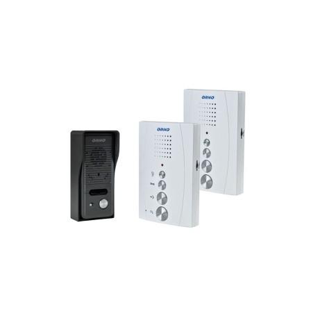 Zestaw domofonowy jednorodzinny z interkomem, bezsłuchawkowy ELUVIO INTERCOM, biały  OR-DOM-RE-920/W  ORNO